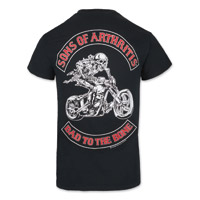 Sons of Arthritis Men's Bad to the Bone Black T-shirt