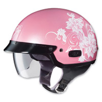 HJC Blossom IS-2, MC-8 Pink/White Half Helmet