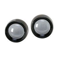 Kuryakyn Deep Dish Black Bezels with Lenses for Bullet Turn Signals