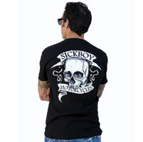 Sick Boy Motorcycles V-neck T-shirt