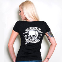 Sick Boy Motorcycles Ladies T-shi