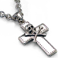 AMiGAZ Skull Cross Necklace on 30