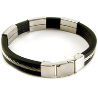 AMiGAZ Inlaid Wire 3-block Bracelet
