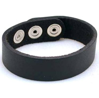 AMiGAZ Plain Leather Strap Bracelet