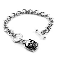 AMiGAZ Toggle Teardrop w/Skull Square Bracelet