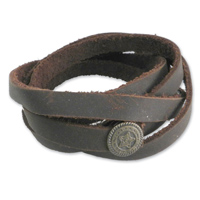 AMiGAZ Brown Recon Thin Multi Wrap Bracelet