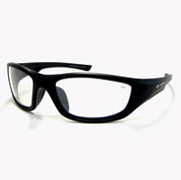 Chap'el C-125 Black Frame/Clear Mirror Lens Safety Glasses