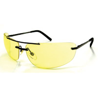 Chap'el C-167 Gunmetal Frame/Night Driving Lens Safety Glasses