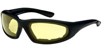 Chap'el C-15 Black Frame/NightDriving Lens Padded Sunglasses
