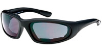 Chap'el C-15 Black Frame/Smoke Lens Padded Sunglasses