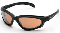 Chap'el C-1 Black Frame/NightDriving Lens Padded Sunglasses