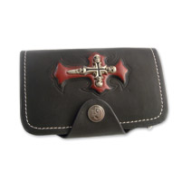 AMiGAZ Red Skull Cross Bifold Wallet
