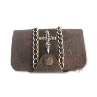 AMiGAZ Skull Cross w/Chain Piping Wallet