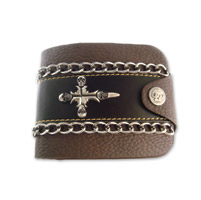 AMiGAZ Skull Cross Bifold w/Chain Wallet