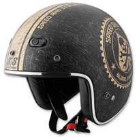 Speed and Strength SS600 Speed Shop Black/Gold Helme