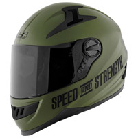 Speed and Strength SS1300 Under The Radar Matte Green Helmet