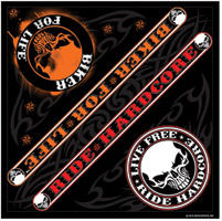 Hot Leathers Ride For Life Bandana