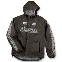 ICON Men's PDX Waterproof Black Jacket