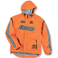 ICON Men's PDX Waterproof Orange Jacket