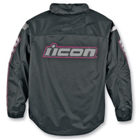 ICON Women's PDX Waterproof Black/Pink Jacket