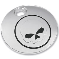 Chrome Skull Fuel Door