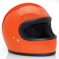 Biltwell Inc. Gringo Gloss Hazard Orange Full Face Helmet