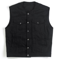 Biltwell Inc. Men's Denim Prime Cut Black Vest
