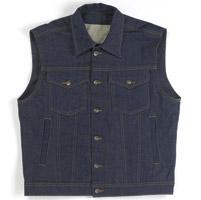 Biltwell Inc. Men's Denim Collared Indigo Vest