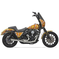 Bassani Short Road Rage 2 into 1 Exhaust System Chrome