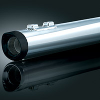 Crusher Black and Chrome Slip-On Mufflers