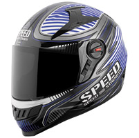 Speed and Strength Speed Strong SS1300 Gloss Blue Full Face Helmet