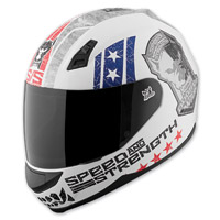 Speed and Strength Dogs Of War SS700 Matte Red/White/Blue Helmet