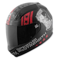 Speed and Strength Dogs Of War SS700 Matte Black/Red Helmet