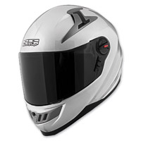 Speed and Strength Solid Speed SS1300 Gloss Silver Full Face Helmet