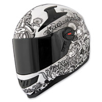 Speed and Strength Wicked Garden SS1300 Gloss White Full Face Helmet