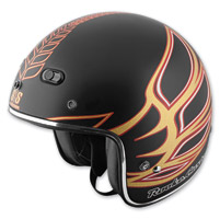 Speed and Strength Jesse Rooke Customs SS600 Matte Black/Gold Helmet