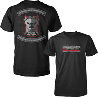 Speed and Strength Dogs Of War Mens T-shirt