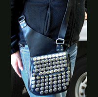 That's A Wrap Leather Sling Purse w/Flat Studs