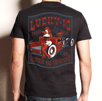 Lucky-13 Men′s Red T-shirt