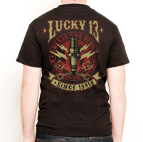 Lucky-13 Men′s Amped T-shirt