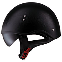 LS2 HH566 Black Flaming Eagle Half Helmet