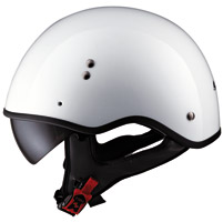 LS2 HH566 Pearl White Solid Half Helmet