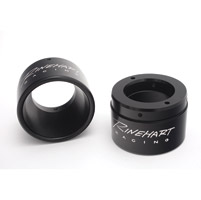 Rinehart Racing 2-1/2″ Black End Caps