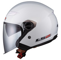 LS2 OF569 Pearl White Open Face Helmet