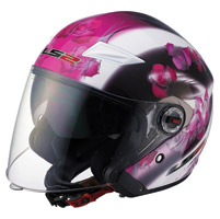 LS2 OF569 Floral Open Face Helme