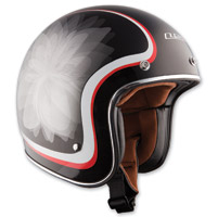 LS2 OF583 Glow Black Open Face Helmet
