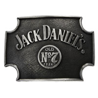 Jack Daniel's Maltese Cross Belt Buckle w/Swing Bug Logo