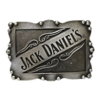 Jack Daniel's Square Beaded Edge Belt Buckle