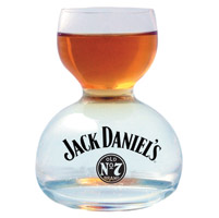 Jack Daniel's Whiskey on Water Chaser Jigger Shot Glass
