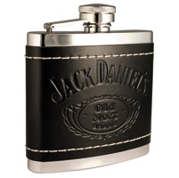 Jack Daniel's Stainless Steel Leather Covered Flask